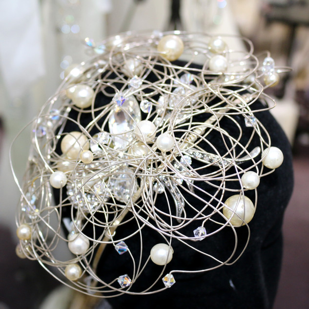 Diamante and pearl tiara at Wedding Dresses of Manchester