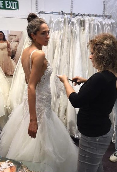 Bride fitting at Wedding Dresses of Manchester