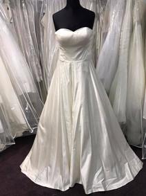 plain satin wedding gown