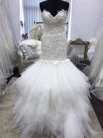 re-designed lace wedding gown front