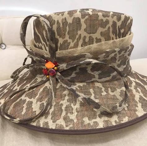 Leopard print custom made hat