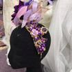 Lilac pink and crystals fascinator