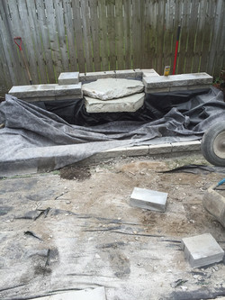 Fontaine en construction