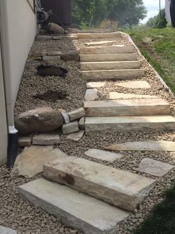 Marches en pierre