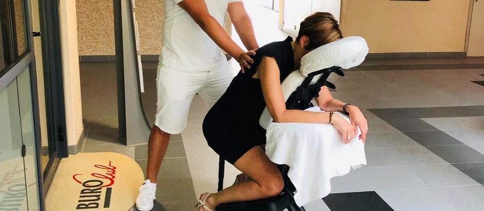 Les massages sur chaise ergonomique en entreprise