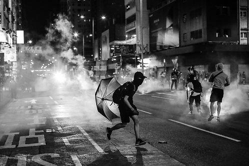 Running Protester