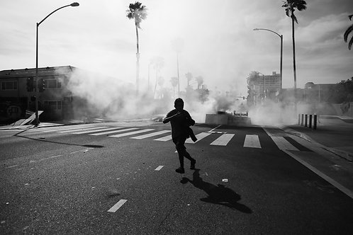 Escaping Teargas on Ocean Avenue