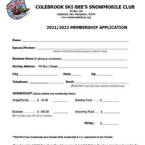 2021 - 2022 Club Membership - see information below