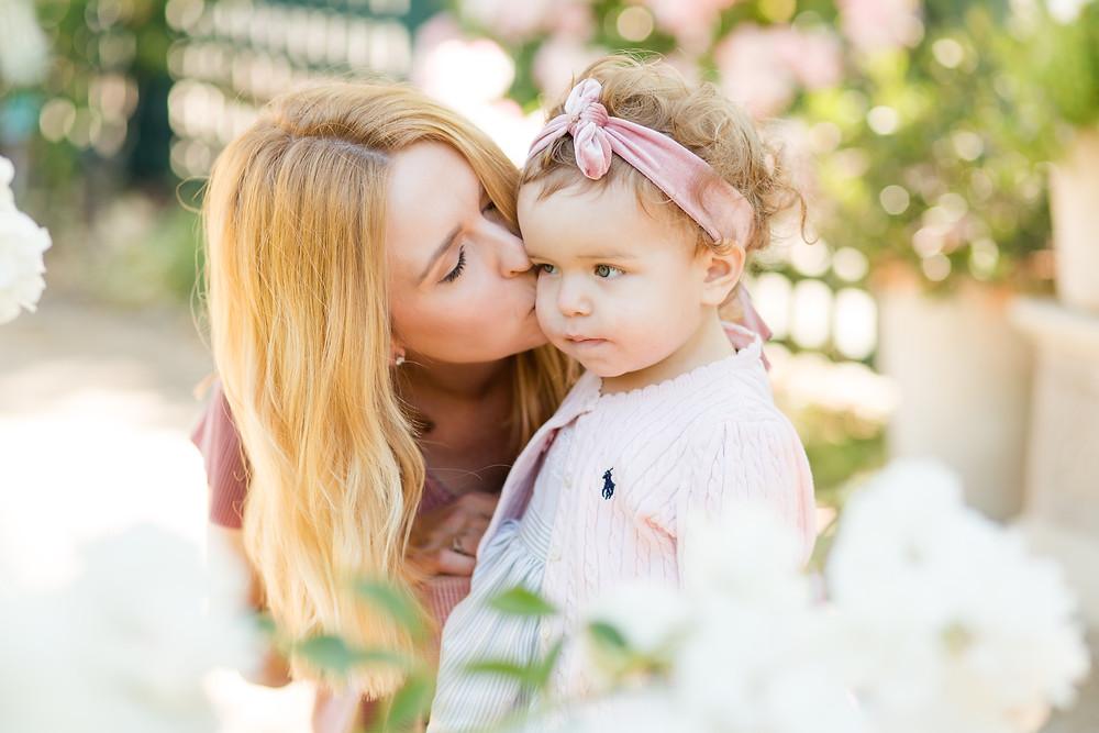 Garden Mini Session Gamble Gardens Palo Alto Mommy Daughter
