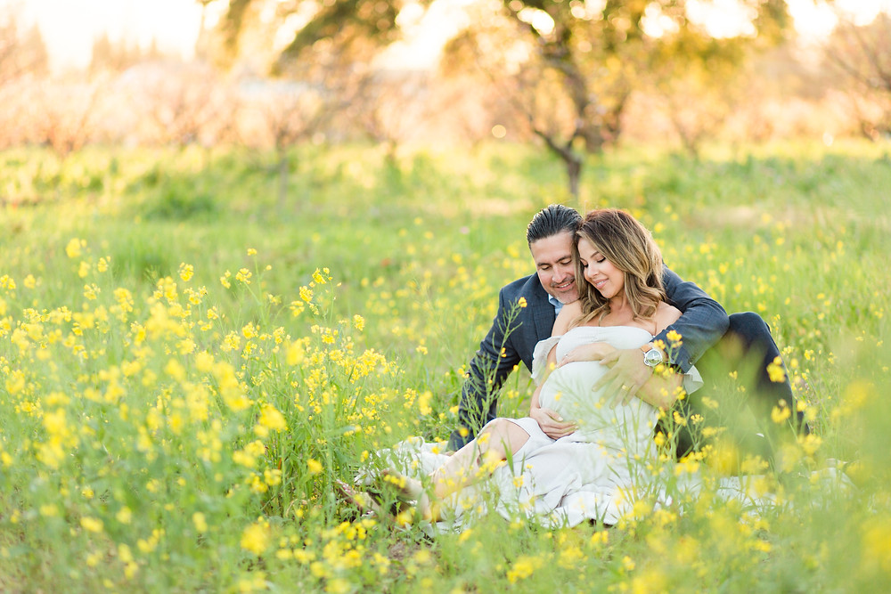 Bay Area Spring Maternity Session Heritage Orchard, Saratoga