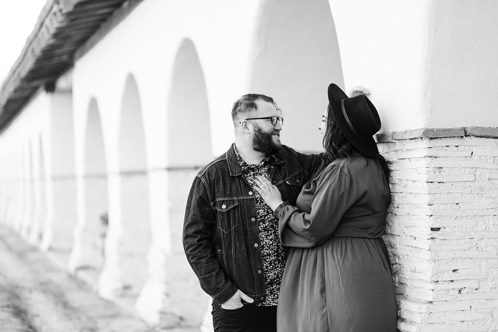 Surprise Engagement Couple Photoshoot San Juan Bautista Mission