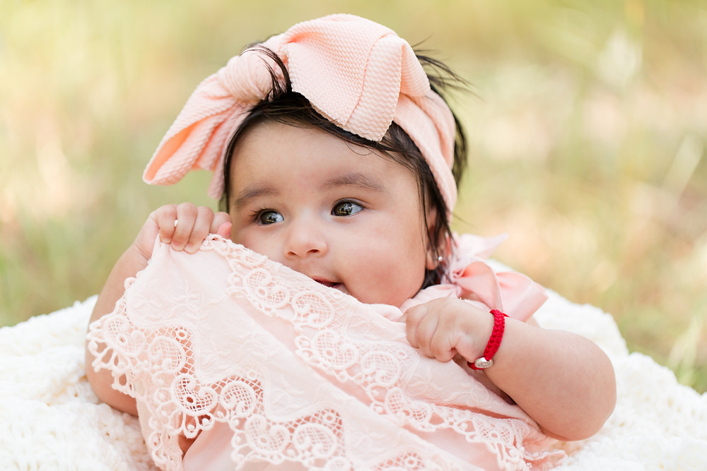 Daytime Spring Baby Photo Session Pink Dress Guadalupe Oak Grove Park San Jose