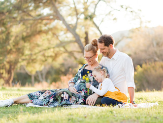SPRING FAMILY MATERNITY SHOOT | Vasona Lake Park, Los Gatos