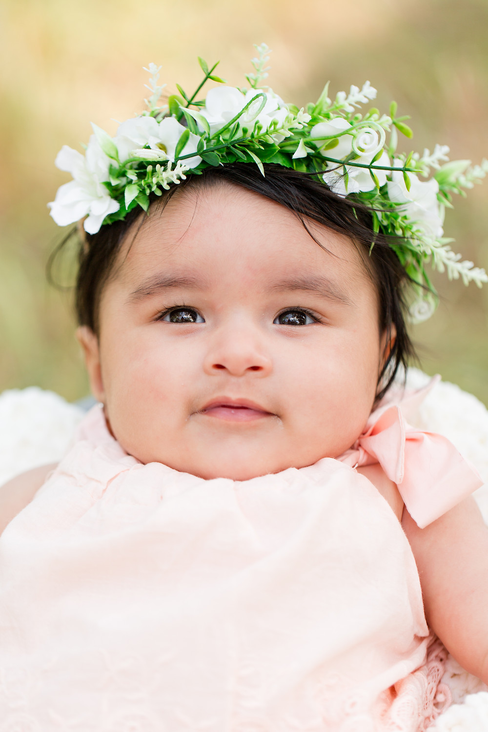 Daytime Spring Baby Photo Session Flower Crown Guadalupe Oak Grove Park San Jose