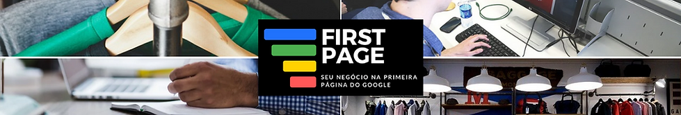 First Page - propganda na primeira página do Google