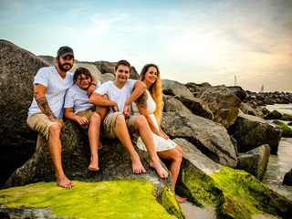 Shannon & Her Guys | Family Portraits | St. Andrew's State Park