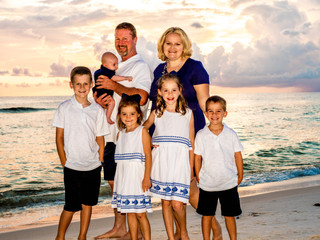 Lusk Family Portraits | St. Andrew's State Park