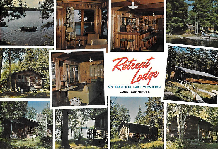 Retreat Lodge Lake Vermilion Post card
