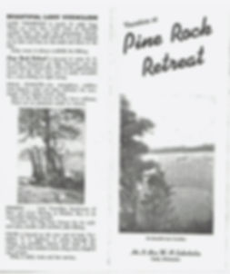 Pine Rock Retreat Brochure Lake Vermilion