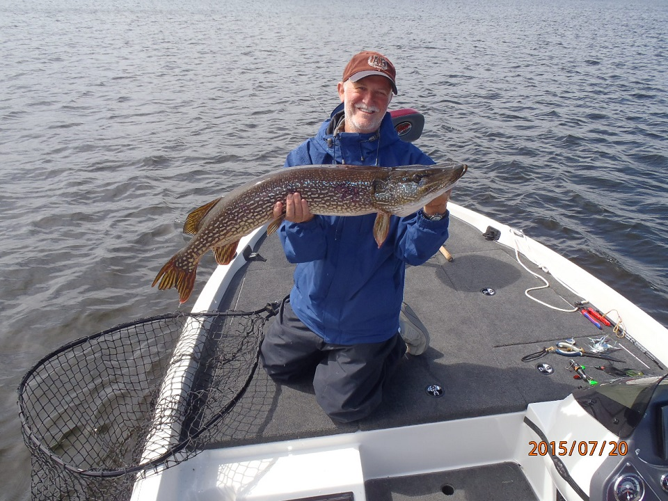 Jeremy with a nice Vermilion Pike