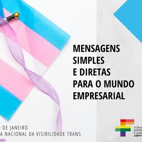 Mensagens simples e diretas para a as empresas  do dia da Visibilidade Trans