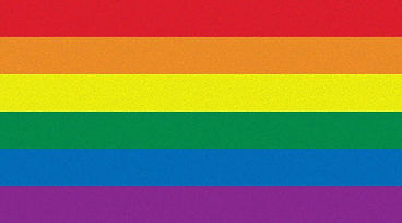 Imagem da bandeira LGBT.