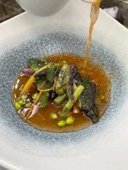 sopa de tomate con verduras de navazo