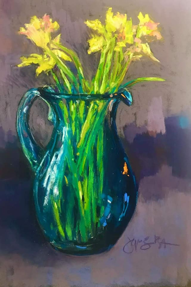 Glass and Daffodils (SOLD)
