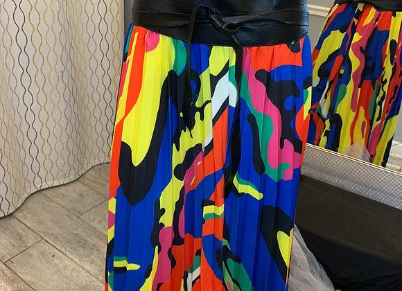 Swirl Pleated Skirt