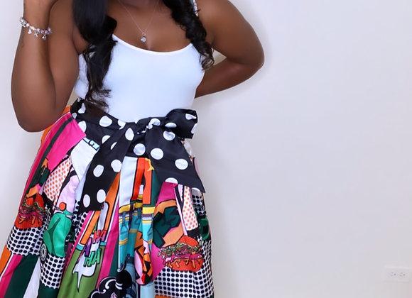 Pop Art Maxi Skirt