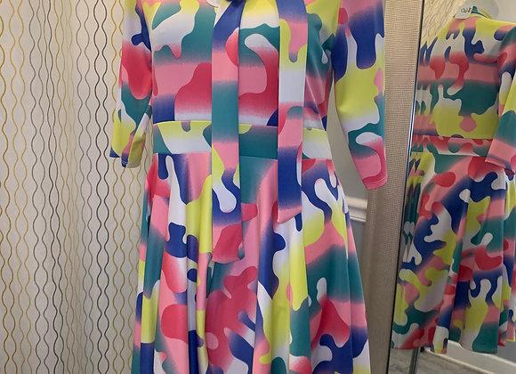 Colorful A-Line Dress
