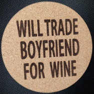 4in. Cork Coaster - Boyfriend