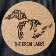 4in. Cork Coaster - MI Lakes