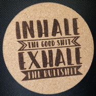 4in. Cork Coaster - Inhale Exhale