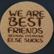 4in. Cork Coaster - Best Friends