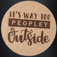 4in. Cork Coaster - Peopley