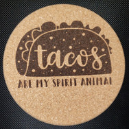 4in. Cork Coaster - Tacos