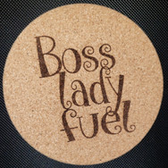 4in. Cork Coaster - Boss Lady