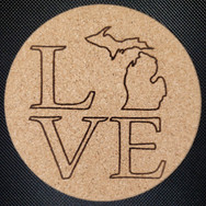 4in. Cork Coaster - MI Love
