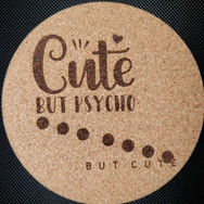 4in. Cork Coaster - Cute