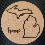 4in. Cork Coaster - MI Home