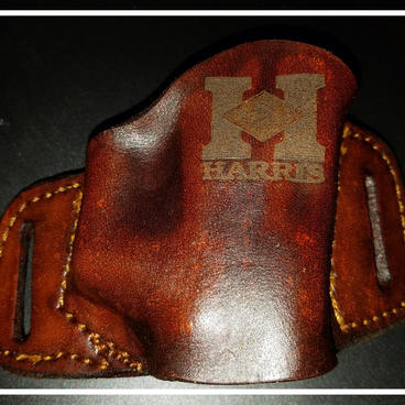 Laser Engraved Leather Holster
