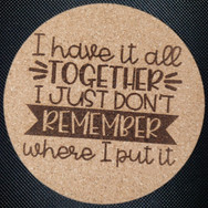 4in. Cork Coaster - All Together
