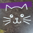 Cat Face - Dark Purple Band