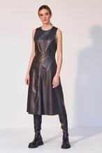 Vestido de piel sintética
