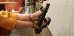 Sandalias con suela de goma