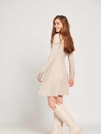 Vestido de punto beige