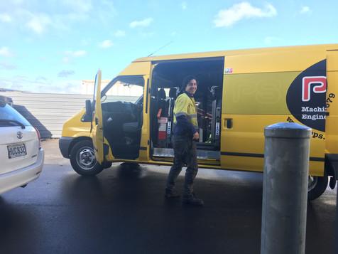 David and the Copier van