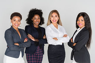 Group of businesswomen working together