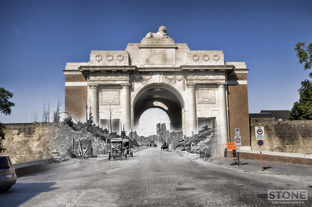 Menin gate - Before and After